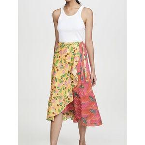 NWT FARM Rio Garden Mix Wrap Skirt